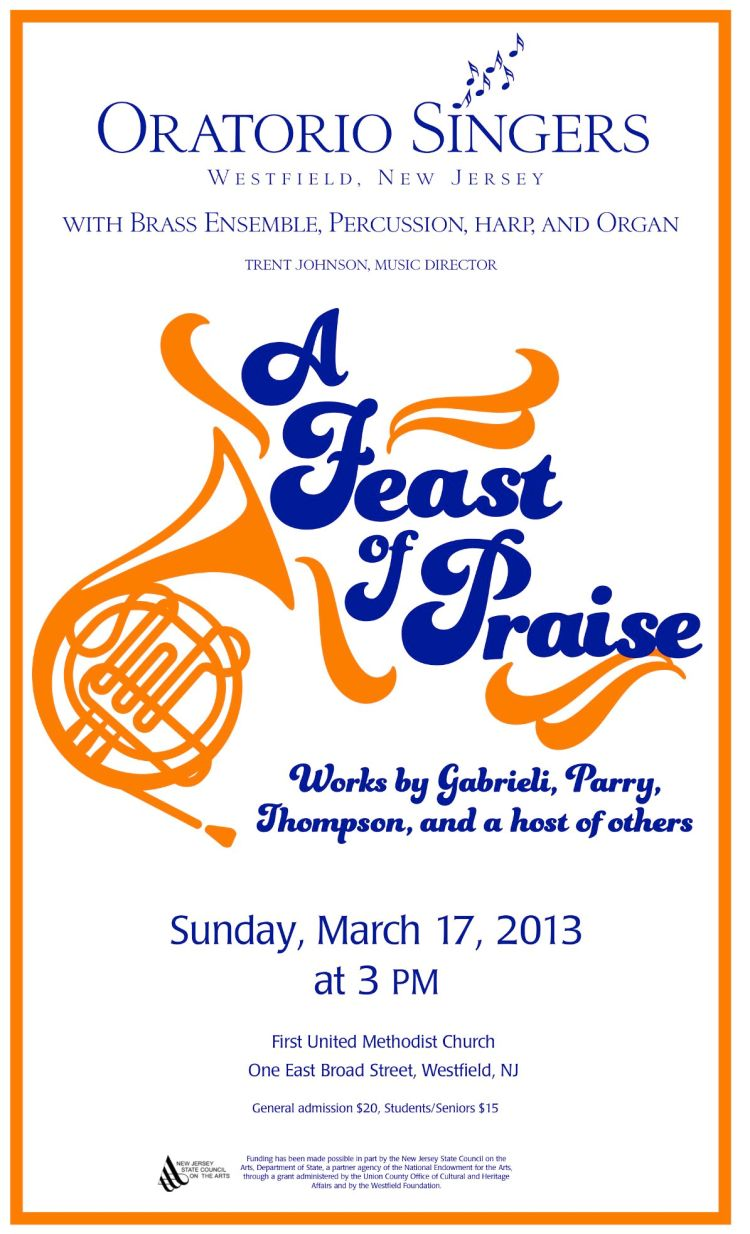 A Feast of Praise - Concert Poster