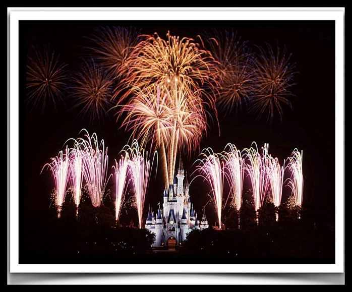 """""""Wishes"""" fireworks Extravaganza at WDW.  Photo courtesy of MS Office Cipart."""
