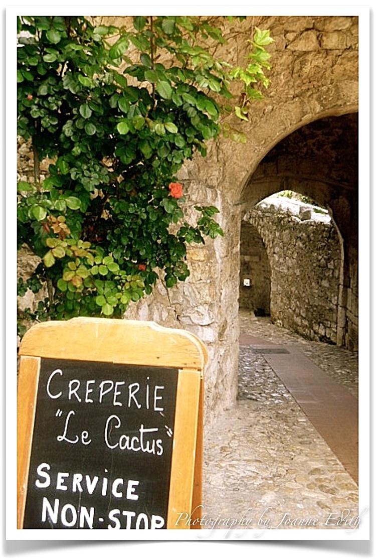 Le Cactus Creperie Eze Village Provence, France