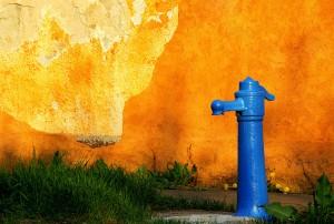 """The Blue Street Fountain"", Odon Czintos"