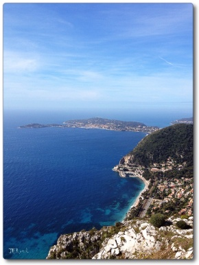 Côte d'Azur, On Top of the world when taking in the expansive vista from Chateau de la Chèvre d'Or,  Eze en Provence, France