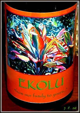 Favorite wine, sipped while in Hawaii.