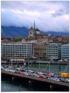Rush Hour in Old Town Geneva